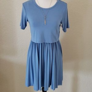 Asos Blue Short Sleeve Dress